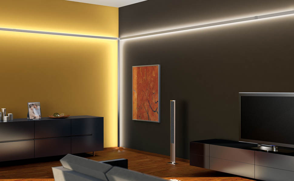 led lichtsystemen bij hornbach. Black Bedroom Furniture Sets. Home Design Ideas
