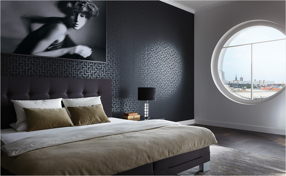 designerbehang ontdek exclusieve behangcollecties bij hornbach. Black Bedroom Furniture Sets. Home Design Ideas