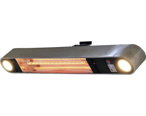 SUNRED Terrasverwarmer Ellips Carbon Fire met verlichting RVS 1500 ...