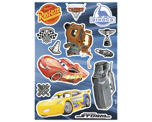 Cars Muurstickers Kinderkamer.Komar Muursticker Disney Cars 3 50x70 Cm