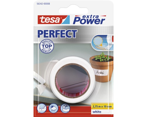 tesa extra power perfect tape wit 2 75 m x 19 mm kopen bij hornbach. Black Bedroom Furniture Sets. Home Design Ideas