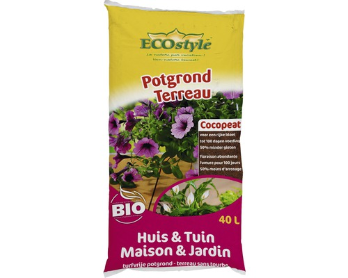 ECOSTYLE Potgrond huis&tuin 40 ltr