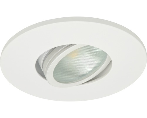 malmbergs led inbouwspot md 350 5w dimbaar met lamp 95 mm wit ip44