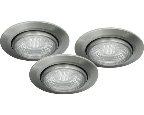 malmbergs led inbouwspot set md 13 13w dimbaar met lamp 70 mm satijn